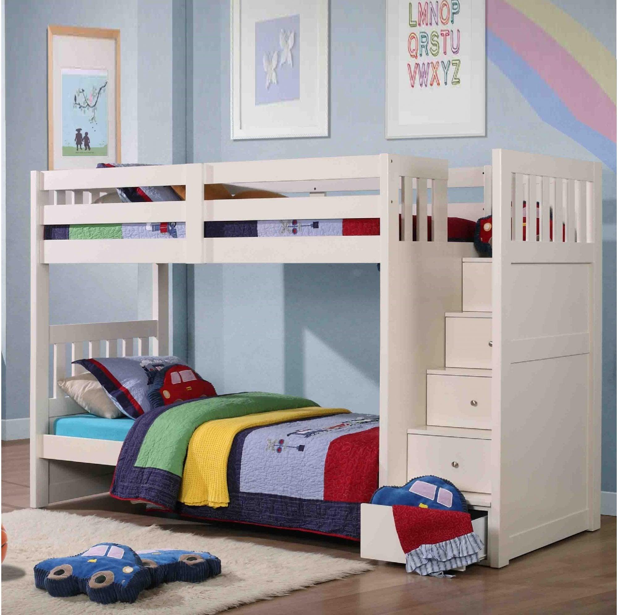 Neutron Children S Bunk Bed With Stair Storage