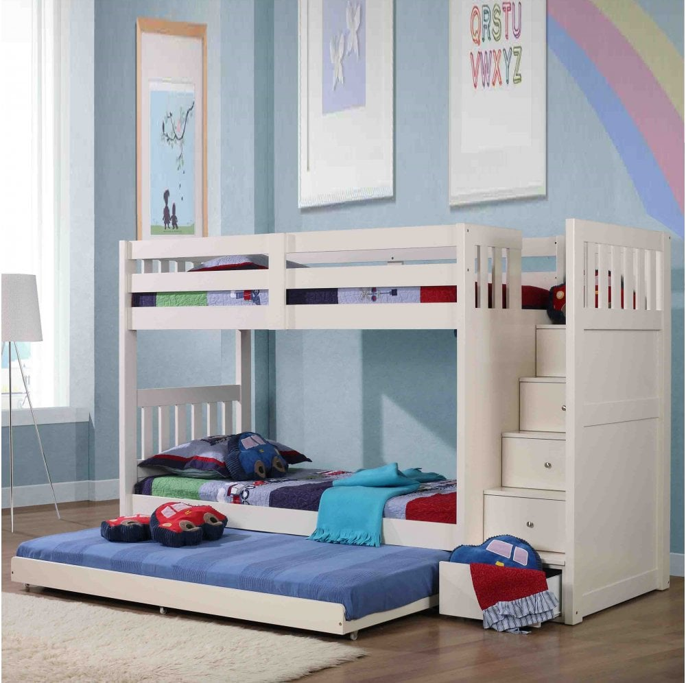 Neutron Bunk Bed With Trundle The Children S Furniture Company